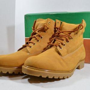 Vintage 90s Ibex New Mens Nubuck Work Boots Tan